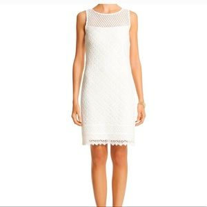 White House Black Market White Shift Lace dress